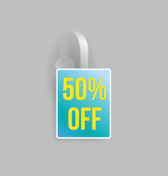 blue wobbler mockup with transparent strip vector image