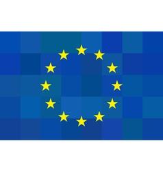 European union flag on unusual blue squares vector image
