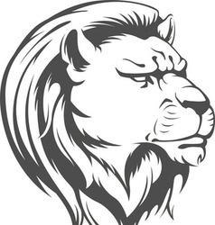 Heraldic Lion Head Silhouette vector image vector image