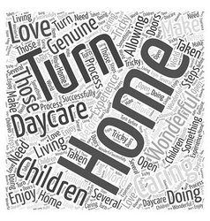 How to turn your home into a daycare word cloud vector
