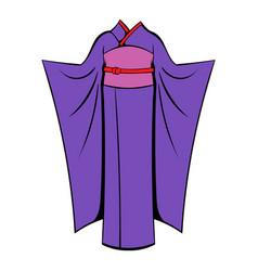 japanese kimono icon cartoon vector image