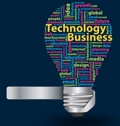 light bulb with Technology business Network vector image vector image