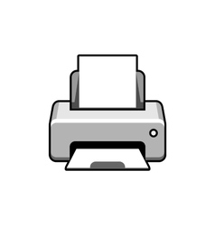 Realistic printer icon vector image vector image