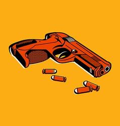 retro gun vector image vector image