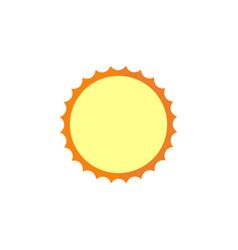 sun flat icon travel tourism vector image
