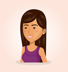 young woman lifestyle avatar vector image