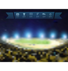 Blurred lights at night and stadium vector image vector image