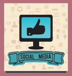 Concept of socilal media with background icons vector image