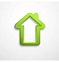 3d house icon vector