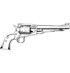a big revolver with handle fighting weapon vector image