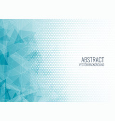 abstract blue geometric shapes background vector image