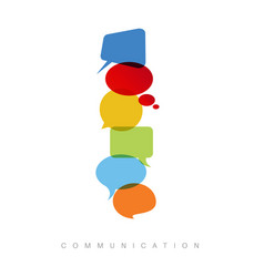 Abstract communication concept vector