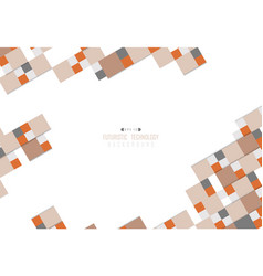 Abstract square paper cut pattern design tech vector