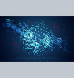 abstract technology world digital link network vector image