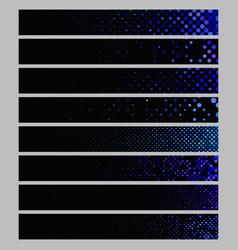 Banner background set - rectangular dot pattern vector
