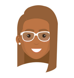 Beautiful and young woman student with glasses vector