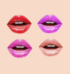 beautiful lips set vector image