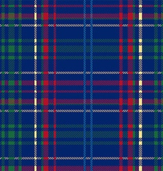 Blue Tartan Plaid Seamless Design vector image