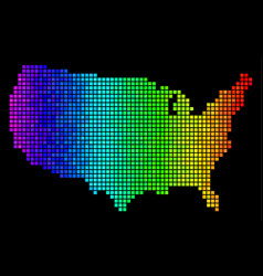 bright dotted usa map vector image