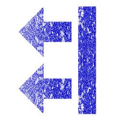 Bring left grunge textured icon vector