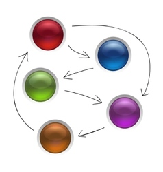 Business Diagram Management Strategy Buttons vector