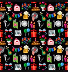 celebrations seamless pattern vector image