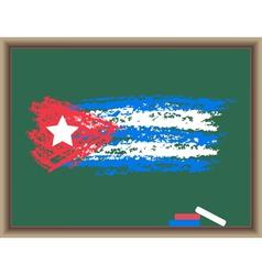 Chalk flag of cuba vector