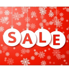 Christmas sale balls cut the paper vector