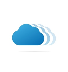 Cloud logo or symbol icon vector