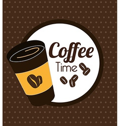 Coffee design over brown background vector
