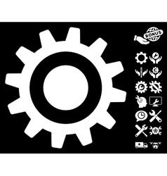 Cogwheel Icon With Tools Bonus vector