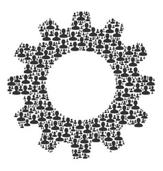 cogwheel mosaic of user icons vector image