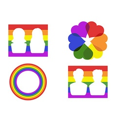 Color gay symbol icons vector