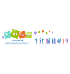 Colourful business people silhouette group of vector
