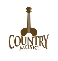 Country music sign symbol design vector