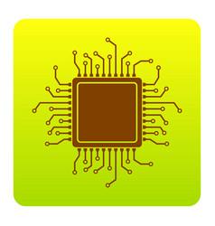 Cpu microprocessor brown vector