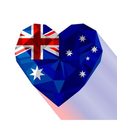 Crystal gem jewelry Australian heart with the vector