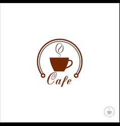 cup coffee logo for coffee shop coffee beans vector image