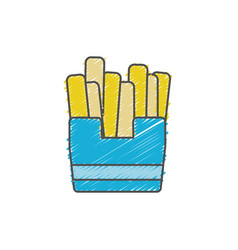 delicious fries french fast food vector image