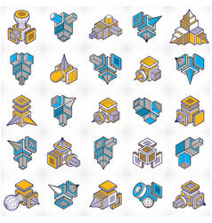 Engineering constructions collection abstract set vector