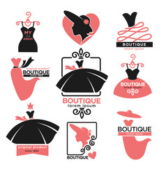 Female clothes shop or fashion boutique isolated vector