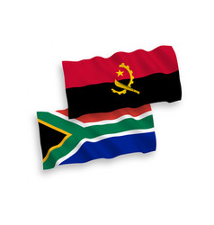 flags angola and republic south africa on a vector image