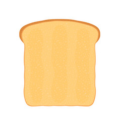 Fresh bread toast for breakfast flat style vector