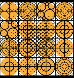 geometric circle pattern with dotted effect vector image
