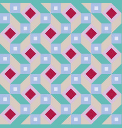 Geometric pattern with diamonds and squares vector