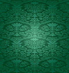 Green Seamless abstract floral pattern background vector