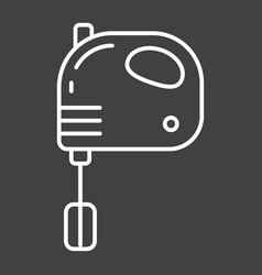 Hand mixer line icon household and appliance vector