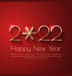 Happy new year 2022 holiday text design vector