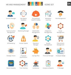 Human Resources Flat Set 04 vector