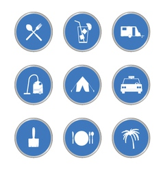 Icon in blue circle vector